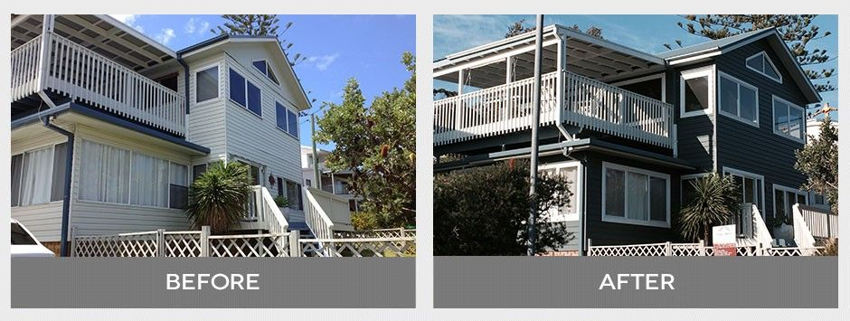 Haven Insulated Vinyl Cladding used to update this Coastal Home.